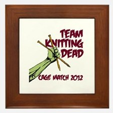 Team Knitting Dead Cage Match Framed Tile