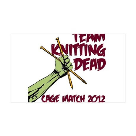 Team Knitting Dead Cage Match 35x21 Wall Decal