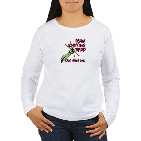 Team Knitting Dead Cage Match Women's Long Sleeve