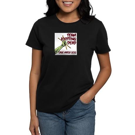 Team Knitting Dead Cage Match Women's Dark T-Shirt