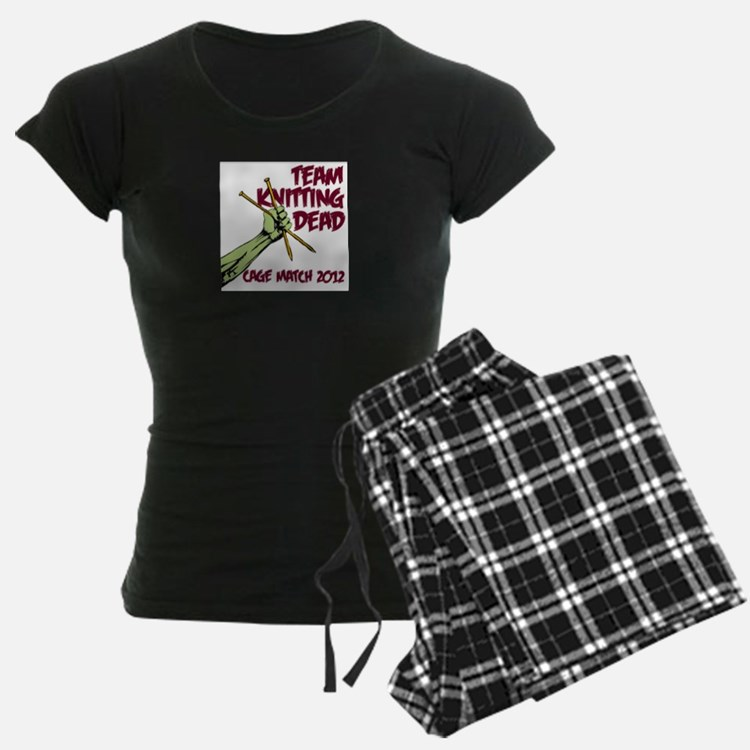Team Knitting Dead Cage Match Pajamas