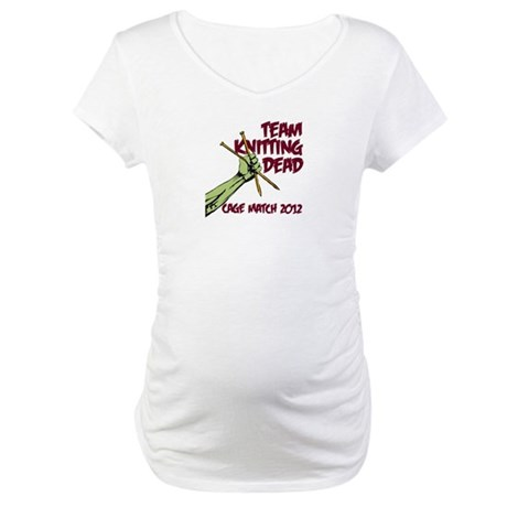 Team Knitting Dead Cage Match Maternity T-Shirt