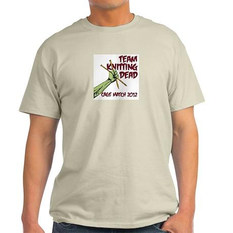 Team Knitting Dead Cage Match Light T-Shirt