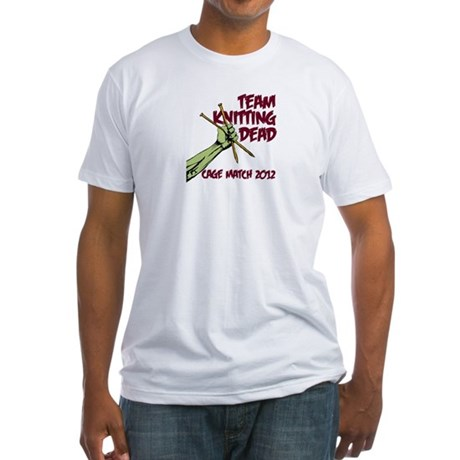 Team Knitting Dead Cage Match Fitted T-Shirt