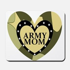 ARMY MOM CAMOUFLAGE HEART Mousepad