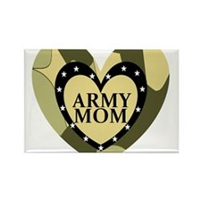 ARMY MOM CAMOUFLAGE HEART Rectangle Magnet
