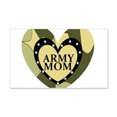 ARMY MOM CAMOUFLAGE HEART Wall Decal