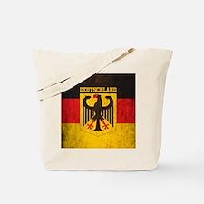 Grunge Germany Flag Tote Bag