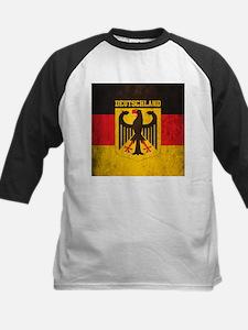 Grunge Germany Flag Kids Baseball Jersey
