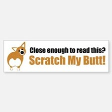 Scratch My Butt Corgi Sticker (Bumper)