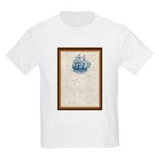 Nautical Vintage Ship Treasure Map T-Shirt