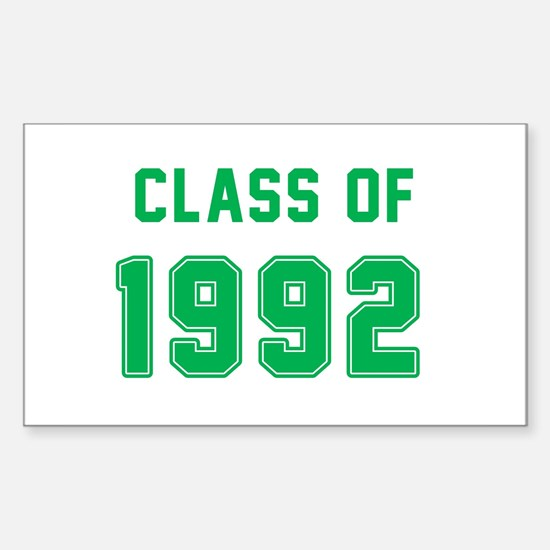 Class of 1992 Green Decal