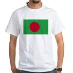 Bangladesh Flag White T-Shirt