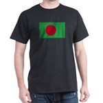 Bangladesh Flag Black T-Shirt