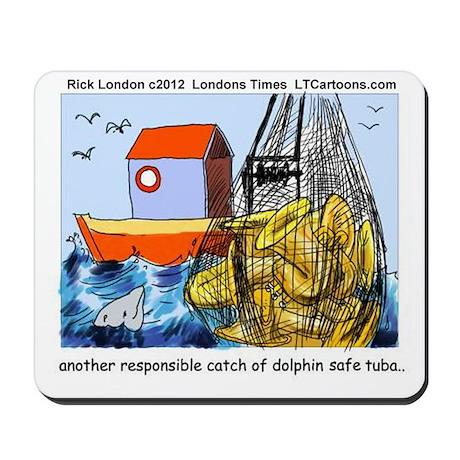Dolphin-Safe Tuba Mousepad