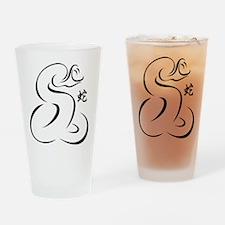 Chinese Zodiac Snake Drinking Glass
