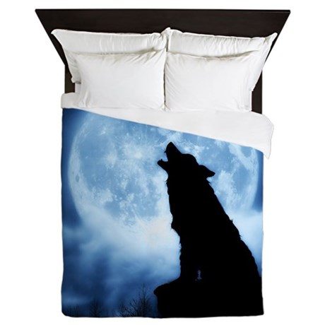 Cries of the Night Wolf/ Blanket/Cover Queen Duvet