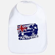Retro grunge painted Australia flag Bib
