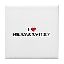 I Love Brazzaville Tile Coaster