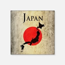 "Map Of Japan Square Sticker 3"" x 3"""