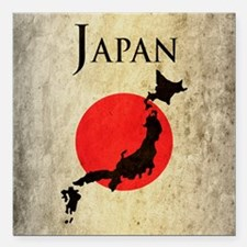 "Map Of Japan Square Car Magnet 3"" x 3"""