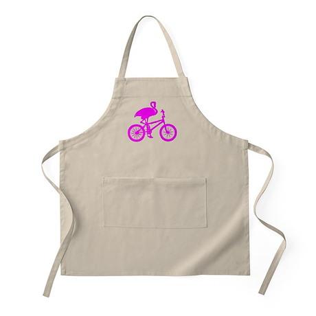 Pink Flamingo on Bicycle Apron