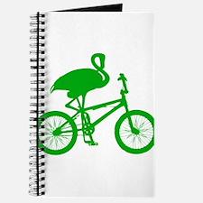 Green Flamingo on Bicycle Journal