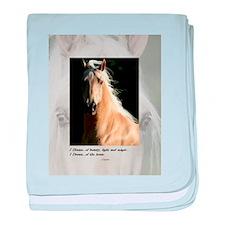 Golden Dream Horse baby blanket