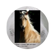 Golden Dream Horse Ornament (Round)
