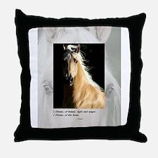 Golden Dream Horse Throw Pillow