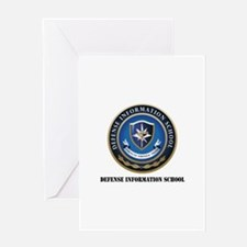 Defense Information School with Text Greeting Card