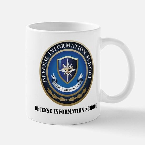 Defense Information School with Text Mug