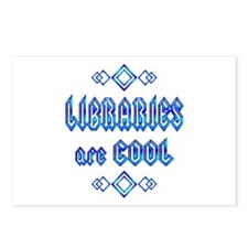 Libraries are Cool Postcards (Package of 8)