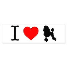 I Love Poodles Car Sticker