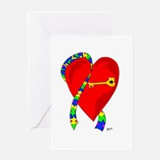 Autism Heart Greeting Card