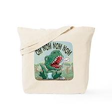 Om Nom Nom T-Rex Tote Bag