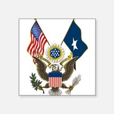 """sealflags10a.jpg Square Sticker 3"""" x 3"""""""