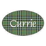 Tartan - Currie Sticker (Oval 10 pk)