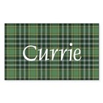 Tartan - Currie Sticker (Rectangle 10 pk)