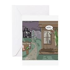 The Fishing Bates Motel Greeting Card