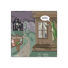 "The Fishing Bates Motel Square Sticker 3"" x 3"""
