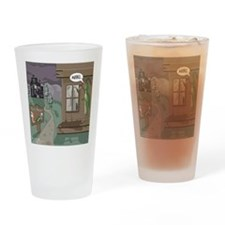 The Fishing Bates Motel Drinking Glass
