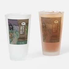 The Fishing Bates Motel Drinking Glass