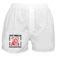 PIT BULLS ARE NOT BAD Boxer Shorts