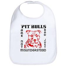 PIT BULLS ARE NOT BAD Bib