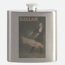 Vintage Magician Kellar Levitation Flask