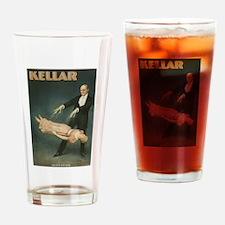Vintage Magician Kellar Levitation Drinking Glass