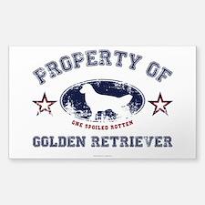 Golden Retriever Sticker (Rectangle)