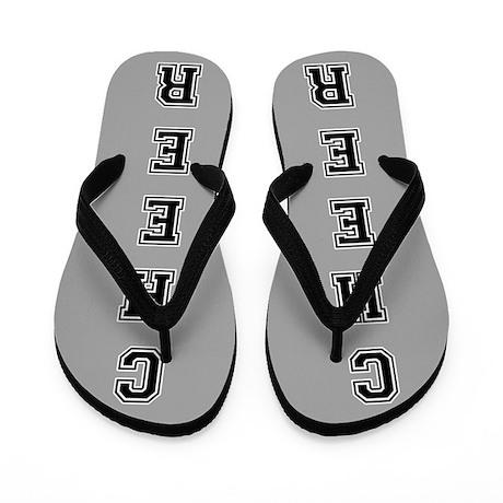 Cheer Gray and black Flip Flops