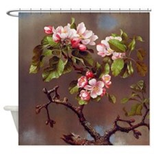 Branch of Apple Blossoms Shower Curtain